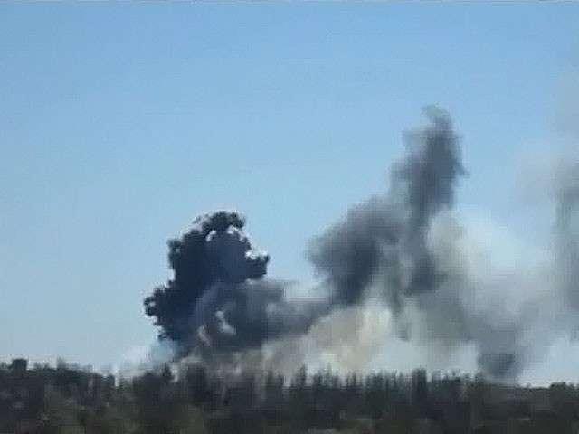 В вертолёт в Краматорске выпустили три ракеты