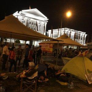 Митинг в поддержку правительства стал крупнейшим в истории Македонии