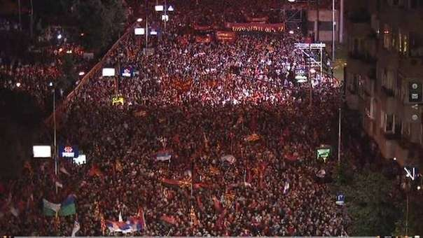 Тут Вам не Украина : 100 тысяч жителей Македонии сказали НЕТ проплаченным америкой майданам