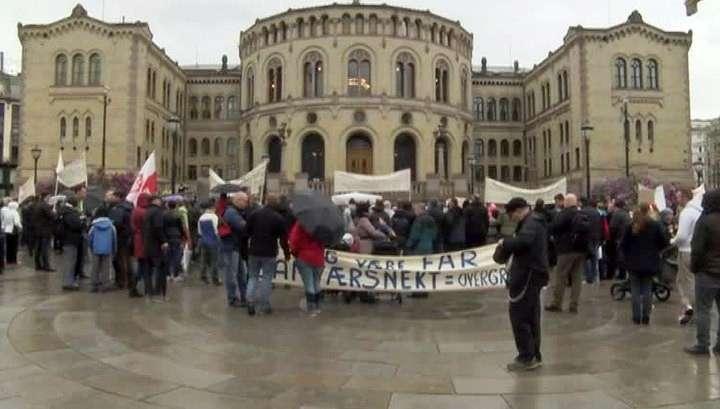 В Норвегии протестуют против изъятия детей из семьи