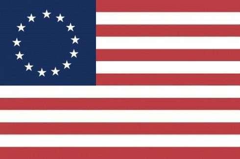 Флаг ЕС - это часть флага Пиндостана конца 18 века