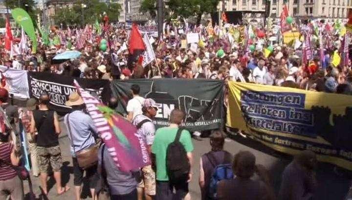 Более 30 тысяч человек протестуют в Мюнхене против саммита G7