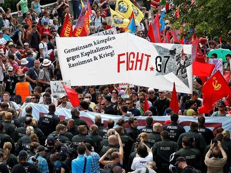 Западная пресса шокирована: Протестующие в ярости от отсутствия Путина на G7