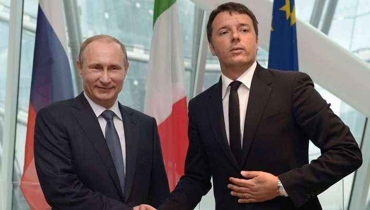 Владимир Путин и Маттео Ренци провели первые переговоры
