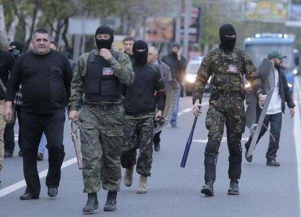 В Донецке местные разогнали марш бандеровцев