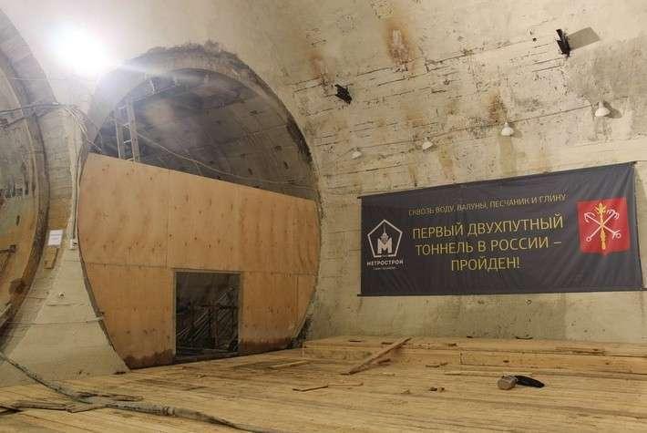 В Санкт-Петербурге завершена проходка двухпутного тоннеля метро