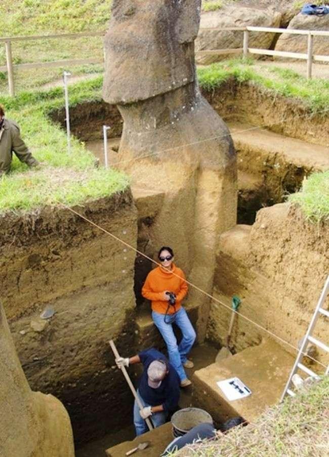 Головы с острова Пасхи имеют туловища