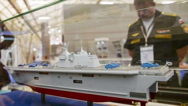 Макет десантного корабля Прибой на торжественном открытии Международного военно-технического форума Армия-2015