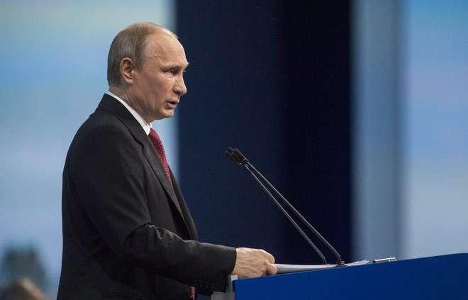 Владимир Путин на пленарном заседании ПМЭФ-2015 — прямая трансляция