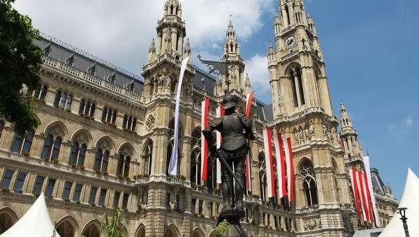 Венская ратуша. Австрия, архивное фото