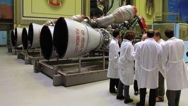 Ракетные двигатели РД-180. Архивное фото