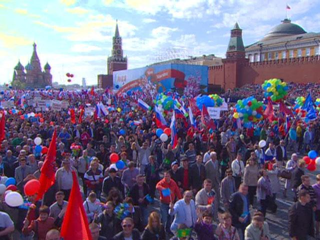 Первомайская демонстрация вернулась на Красную площадь 24 года спустя