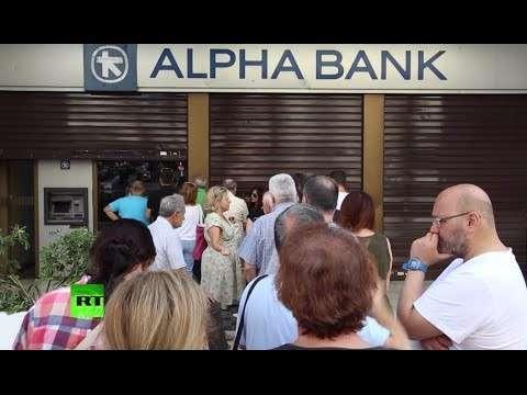 Власти Греции закрыли банки и запретили гражданам снимать со счетов более €60 в день