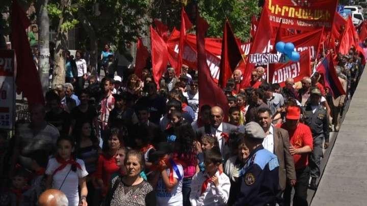 Первомай в Молдавии и Армении прошел под лозунгами в поддержку ТС
