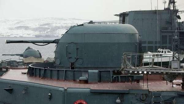 Корабельная артиллерийская установка. Архивное фото