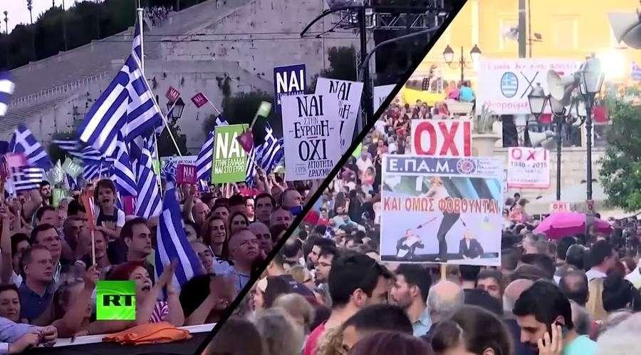 В Греции в массовых демонстрациях приняли участие десятки тысяч человек