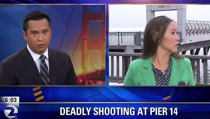 Журналистов двух американских каналов ограбили в прямом эфире