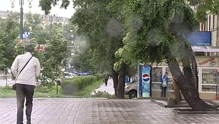 Сильнейший тайфун обрушился на Хабаровск