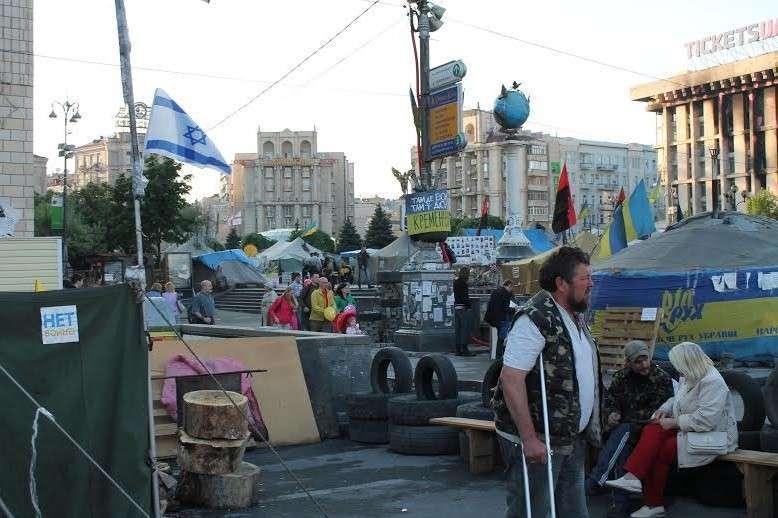 «Киев еврейский»: на Майдане в Киеве снова развивается флаг Израиля