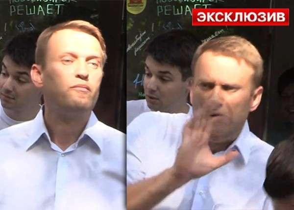 Нахальному Навальному дали в Новосибирске по лицу и забросали яйцами