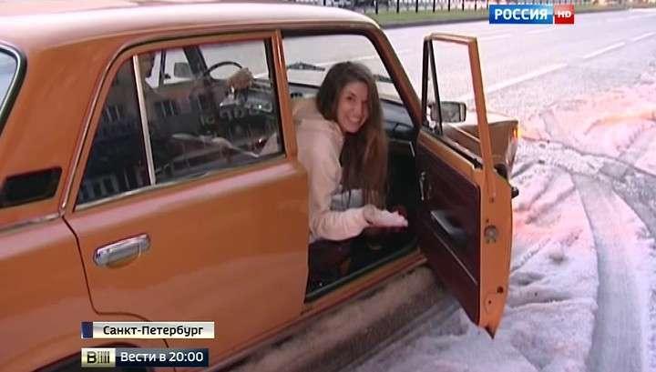 Петербуржцы превратили потоп в забаву