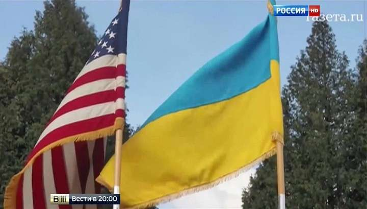 Американский флаг над Украиной: Киев толкают на путь войны