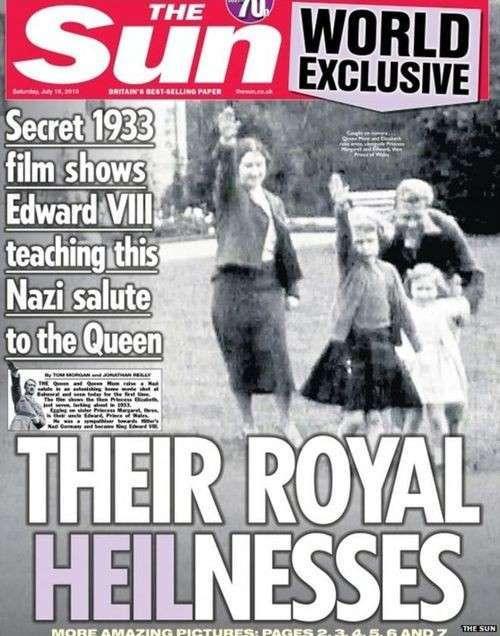 Детские шалости королевы Елизаветы – английский истеблишмент любил поиграть в фашизм