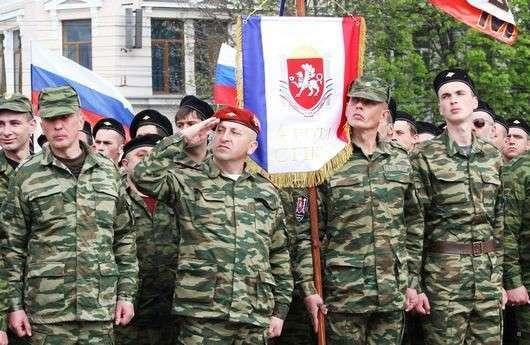 В Славянск прибыли первые подразделения крымских ополченцев