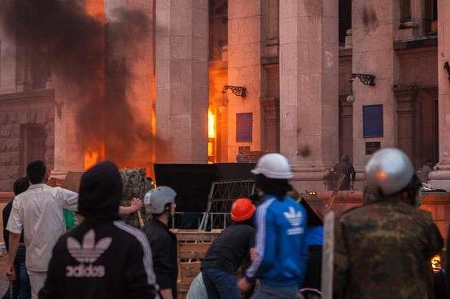 В Одессе «евромайдановцы» напали на участников митинга в память о жертвах майской трагедии