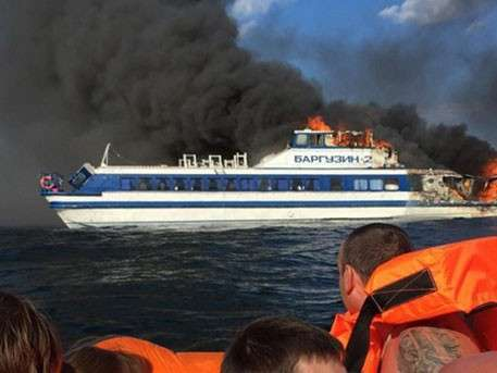 СК РФ возбудил дело по факту возгорания теплохода «Баргузин» на Байкале