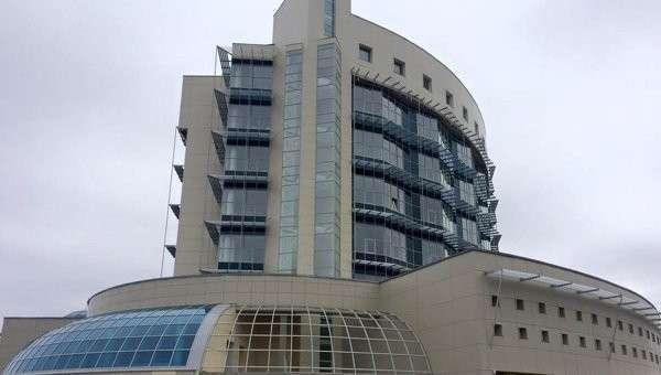 Шайба - здание будущего штаба Роскосмоса. Архивное фото