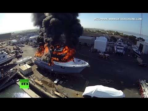 Беспилотники мешают пожарным в Калифорнии бороться с огнём