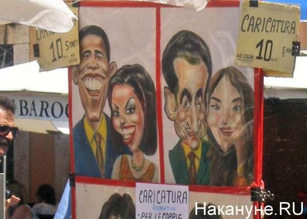 карикатуры, Обама, Италия Фото: Накануне.RU
