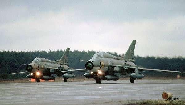 Истребитель-бомбардировщик Су-17. Архивное фото