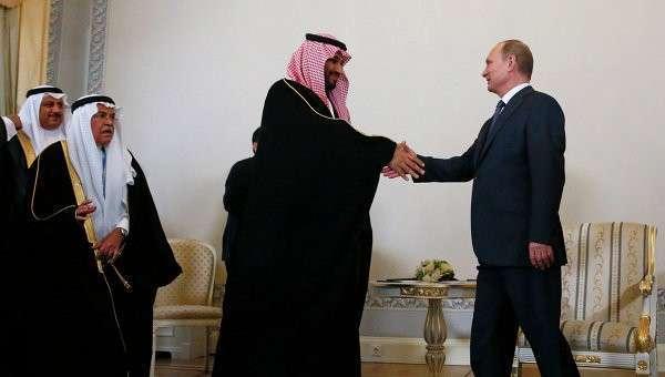 Президент России Владимир Путин и преемник Наследного принца, министр обороны Саудовской Аравии Мухаммед Бен Салман. Архивное фото