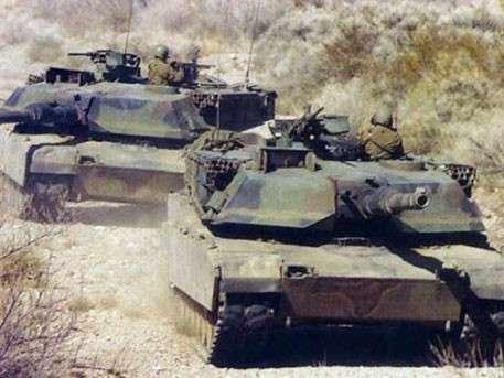 В Донбассе на линии фронта замечены американские танки «Абрамс»