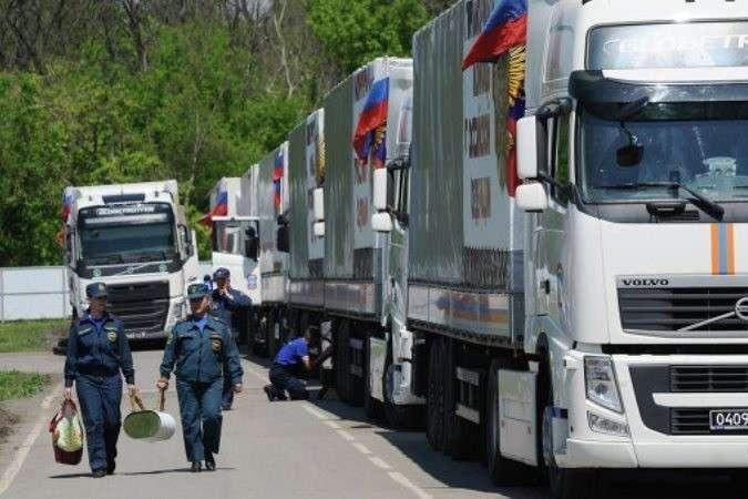 35-й гумконвой МЧС России выдвинулся в Донбасс