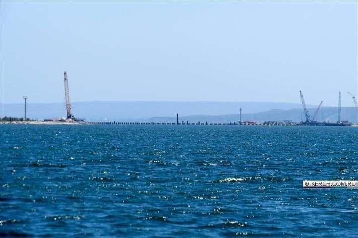 Строительство временного моста в Крым!