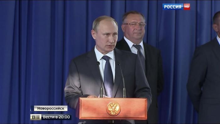 Владимир Путин запустил новый технологический тоннель в Новороссийске