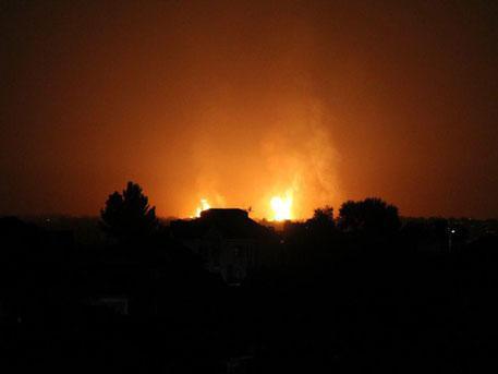 Мощный взрыв прогремел под Ташкентом