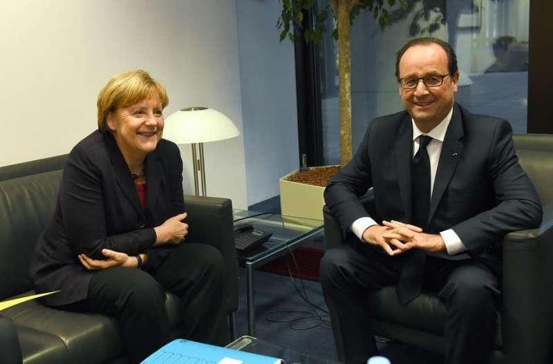 Меркель вообще-то встречалась вчера с Олландом