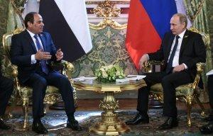 Владимир Путин и Абдель Фаттах ас-Сиси обсуждают меры по борьбе с терроризмом
