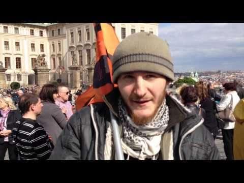 Прага: акция в поддержку России