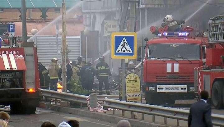 Торговый комплекс «Крестьянский дворик» загорелся от телевизора