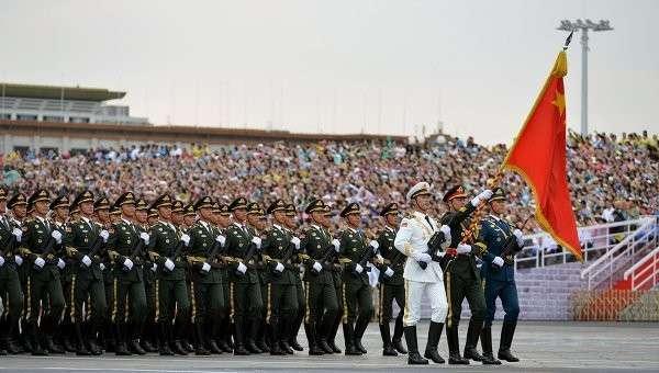 Репетиция парада в честь 70-летия Победы во Второй мировой войне в Пекине