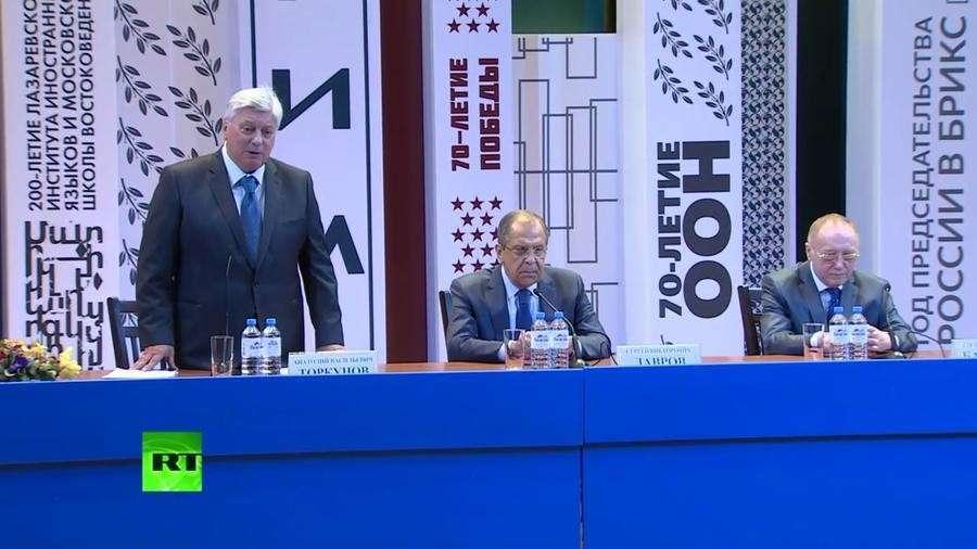 Встреча Сергея Лаврова со студентами МГИМО — прямая трансляция