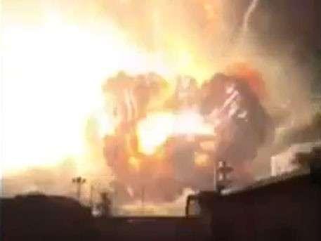 Первые кадры мощного взрыва в Китае появились в Сети
