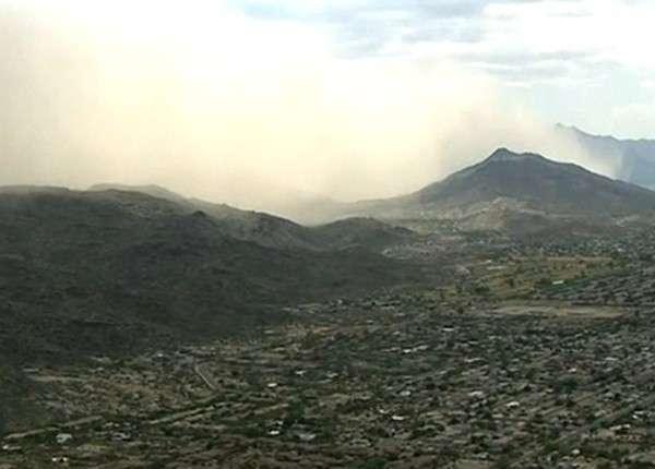 Финикс в штате Аризона накрыла непроницаемая пылевая буря