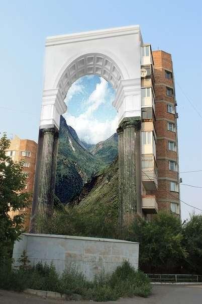 Любовь к Родине: расписные многоэтажки Омска