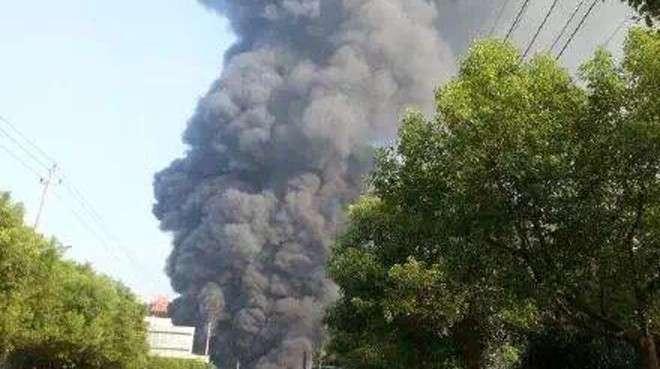 На химзаводе в Китае прогремел мощный взрыв